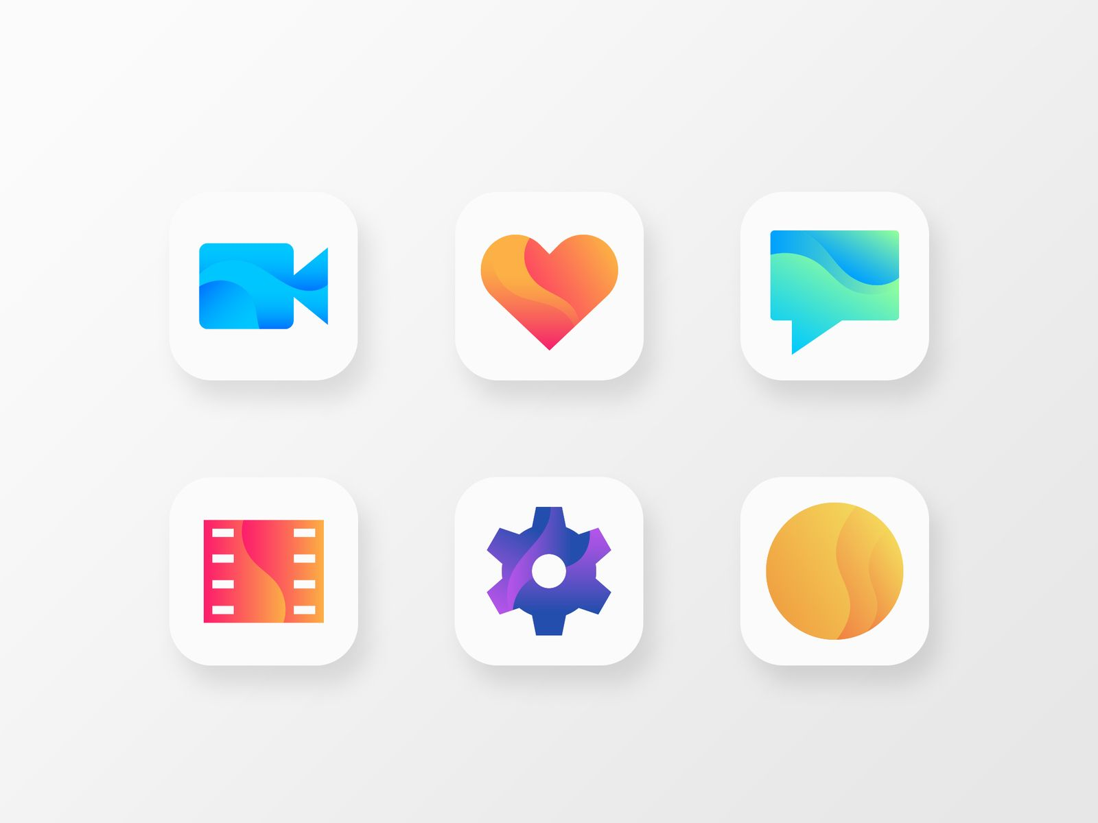 Gradient App Icons | Icon design, App icon, App design