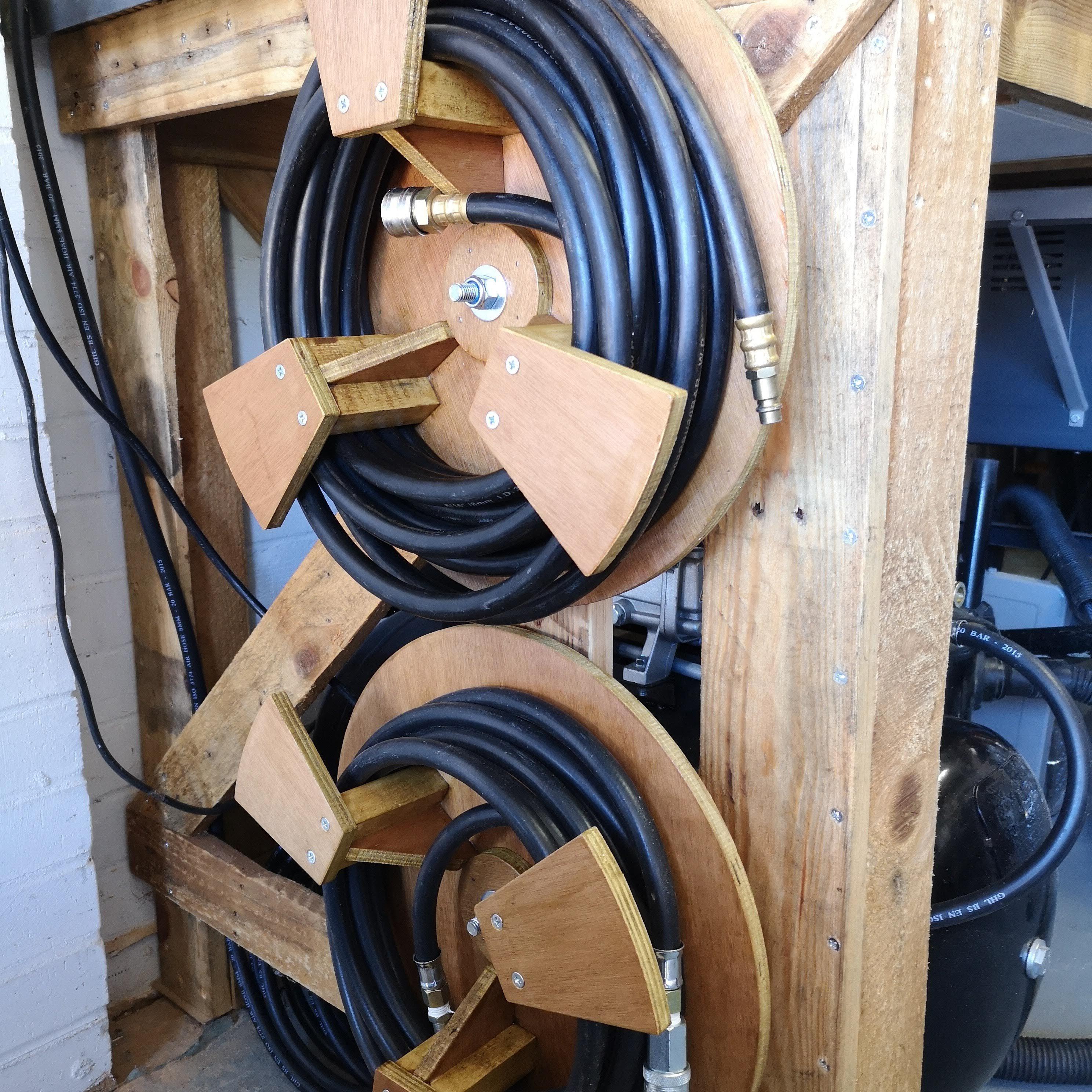 Air Hose Storage Reel Hose Storage Air Tools Diy Garage Storage