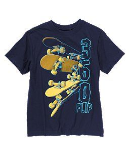 360 Flip Skateboard Tee Kids Fashion Boy Boys Nightwear Boys Graphic Tee