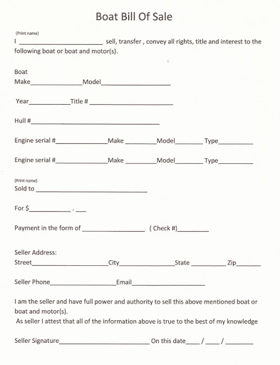 Bill Of Sale Template For A Boat Google Search In 2020 Bill Of Sale Template Templates Printable Free Free Basic Templates