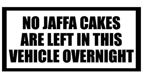 Details About No Jaffa Cakes Left In Vehicle Overnight