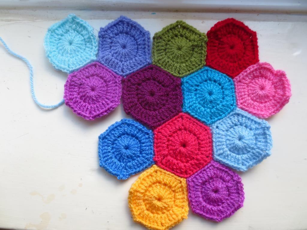 Leftover Yarn and Tiny Crochet Hexagons | Little Tin Bird
