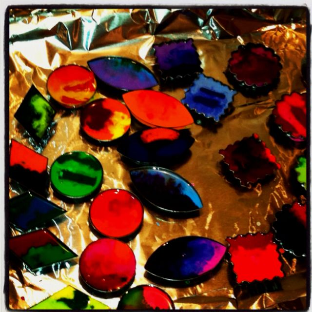 Crayon tarts, kept us entertained for awhile this afternoon.