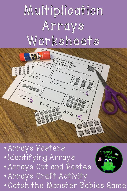 Multiplication Arrays Worksheets (NO PREP Printables