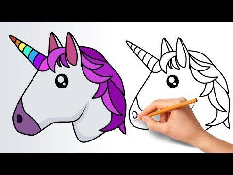 how to draw a unicorn step by step cartoon