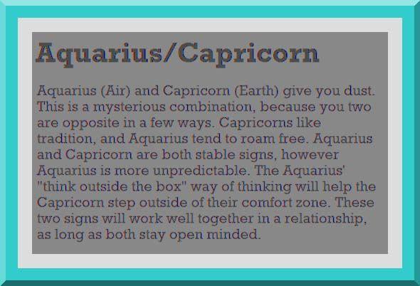 Capricorn aquarius love compatibility