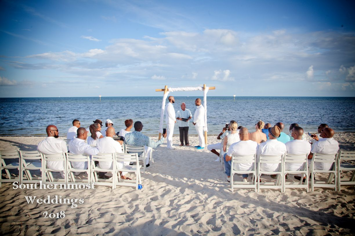 Starfish Sunset Beach Wedding Package At Smathers In Key West By Southernmost Weddings We Proudly Support And Offer Our Services To Same