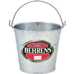 Behrens G100 Steel Pail 1qt By Behrens 6 68 Durable The Strength Of Steel Rodent Proof And Recyclable Capacity 4 Pints 1 Qu Pail Steel Galvanized Steel