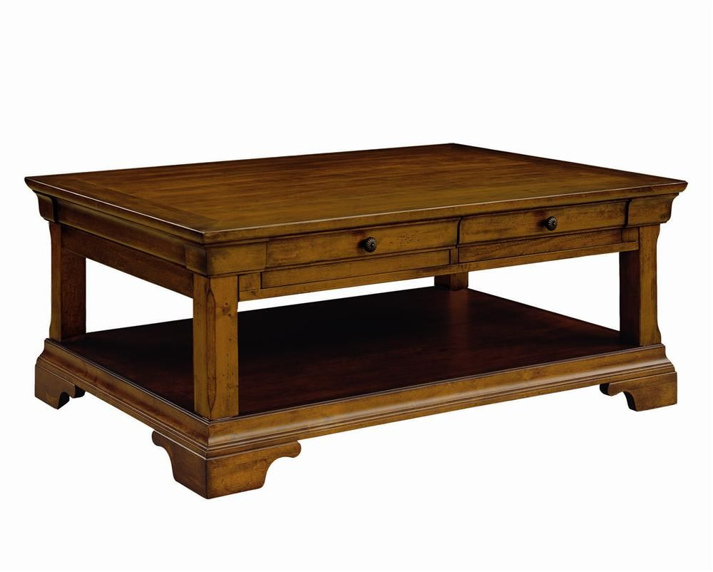 Aspen Home Coffee Table.Chateau De Vin Rectangle Coffee Table With 2 Drawers By Aspenhome