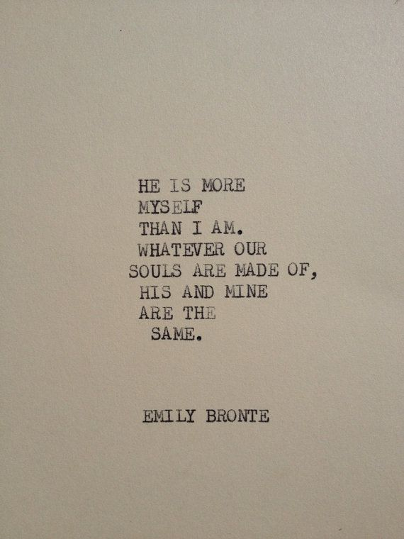 Emily Bronte Quotes THE EMILY BRONTE: Typewriter quote on 5x7 cardstock by WritersWire  Emily Bronte Quotes