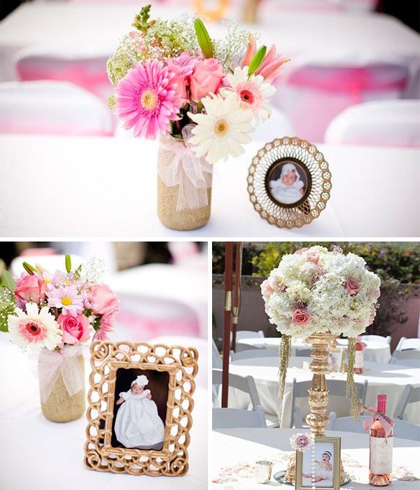 Pin By Melissa Gómez On Baby Ideas Baptism Centerpieces