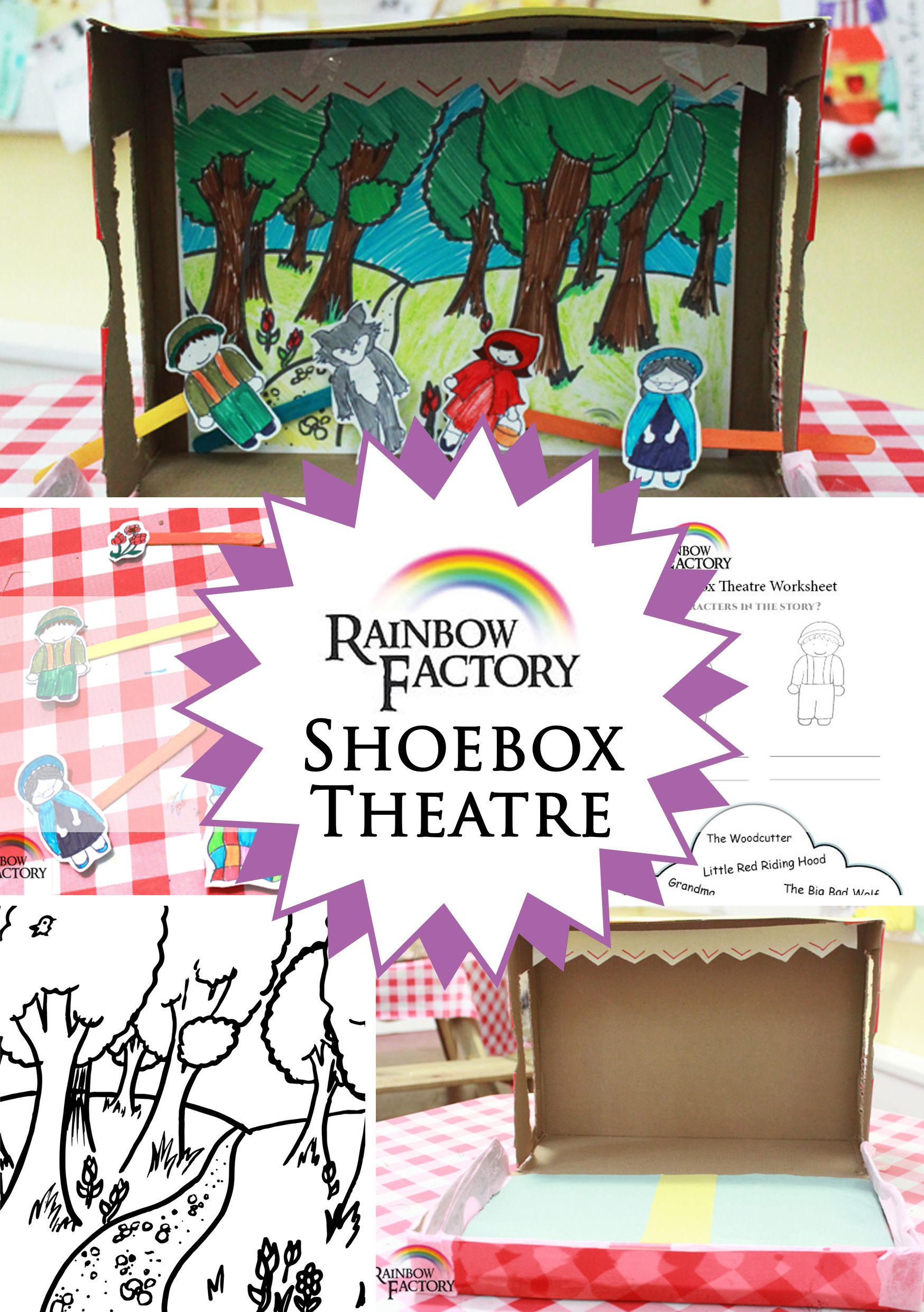 A Tutorial From The Rainbow Factory To Teach You How To Make A Shoe Box Theatre With A Little