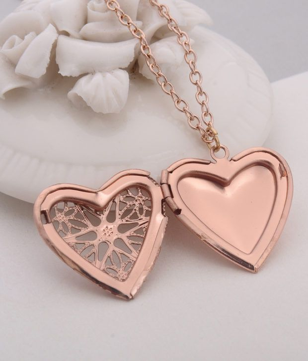 0dbf9a776 Love Heart DIY Secret Message Locket Lover Couple Necklace ...