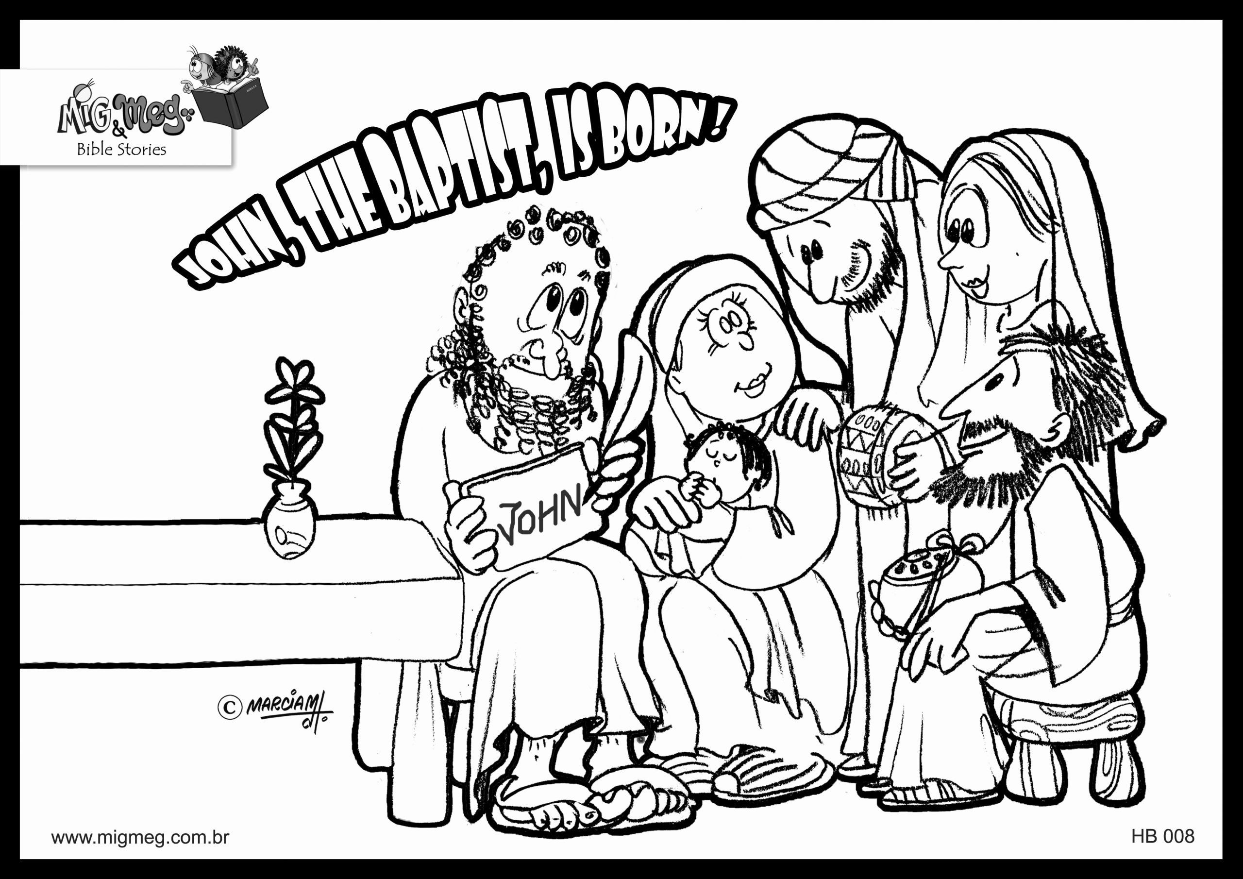 John the Baptist Coloring Page Awesome the Birth Of John ...