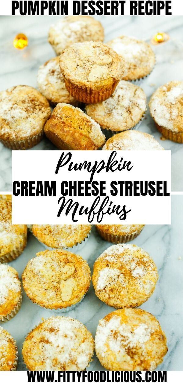 Need a fun breakfast option for Thanksgiving or an easy afternoon snack goto My easy Pumpkin Cheesecake Muffins are made with cream cheese pumpkin puree coconut oil brown...