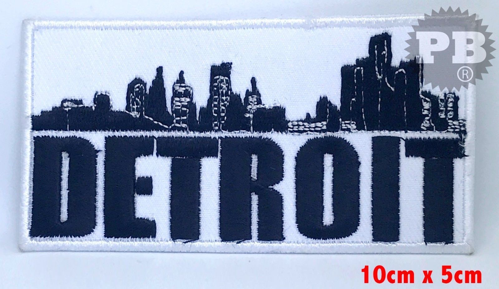 3 12 Detroit City Logo Iron Or Sew On Embroidered Patch Badge Uk Seller Ebay Home Garden City Logo Logos Patches