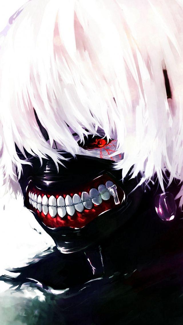 Tokyo Ghoul Kaneki Ken Man Mask Red Eyes White Hair Iphone 5s