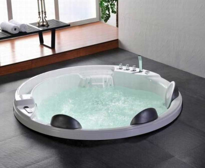 Indoor Round Jacuzzi Hot Tub In Ground Design Inhomejacuzzi Jacuzzi Hot Tub Bathtub Remodel Indoor Jacuzzi