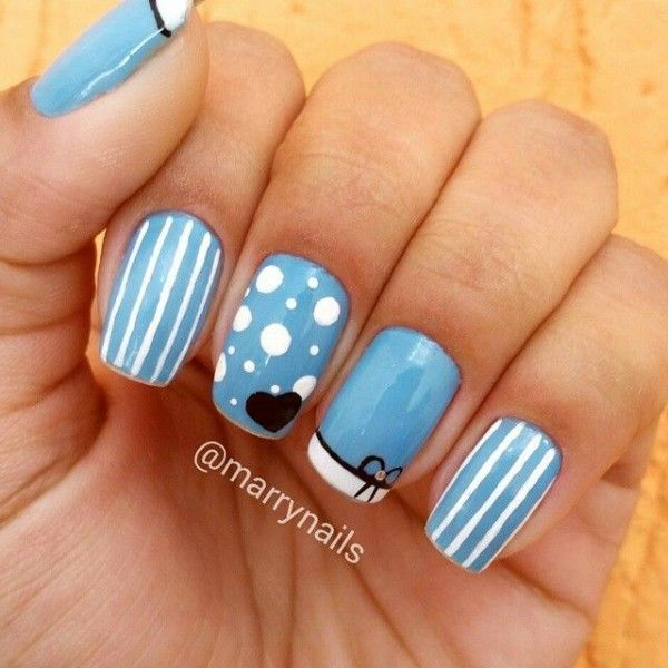 ¿Te gustan las uñas decoradas con topitos? Te dejamos ejemplos - Chicas Naturalistas