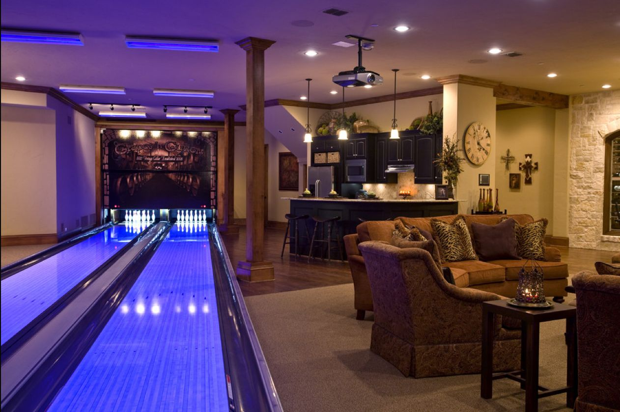 bowling alley or pool table? | Basement finishes | Pinterest