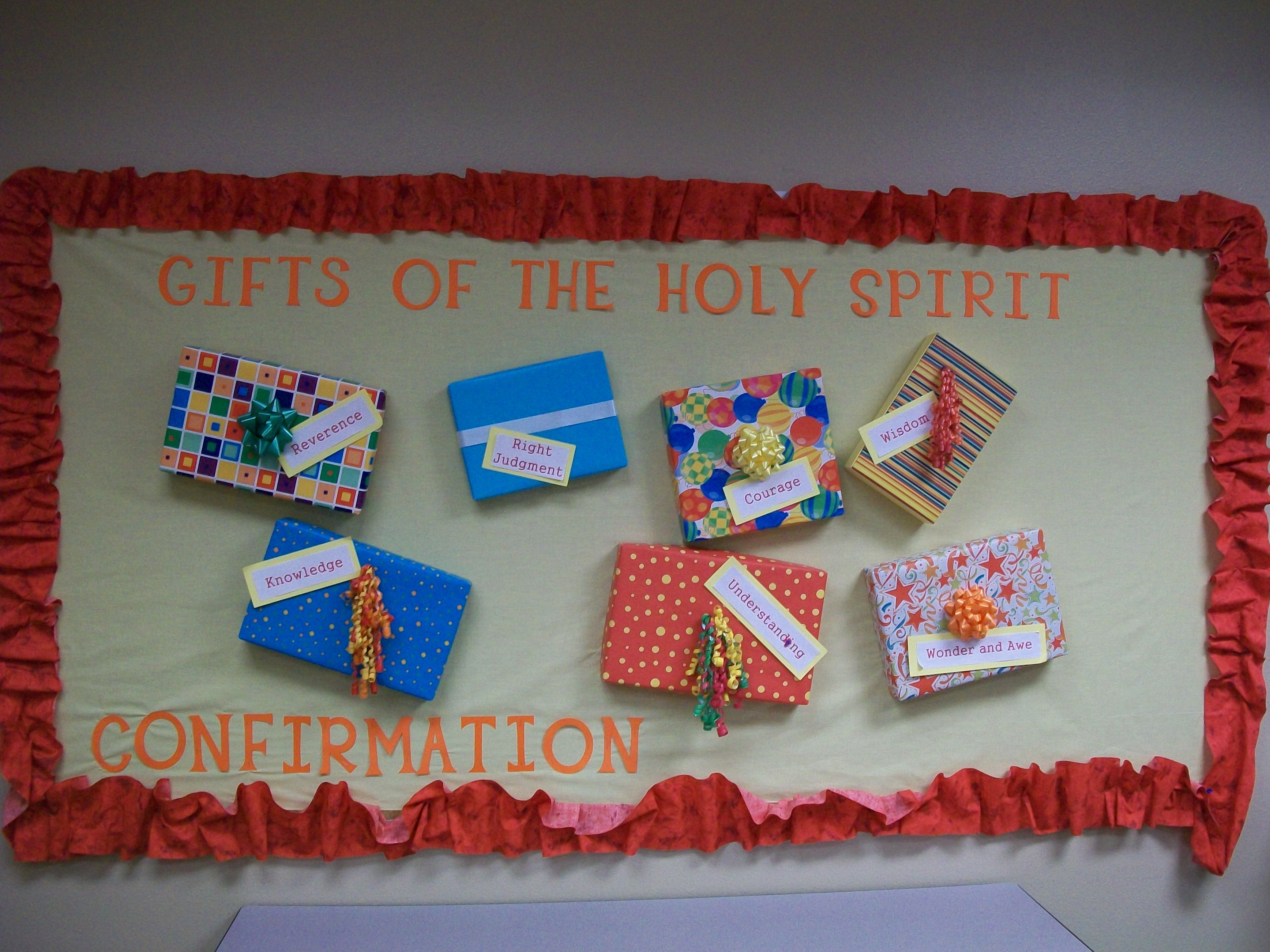 Gifts of the holy spirit preschool and or sunday school for Holy spirit crafts for sunday school
