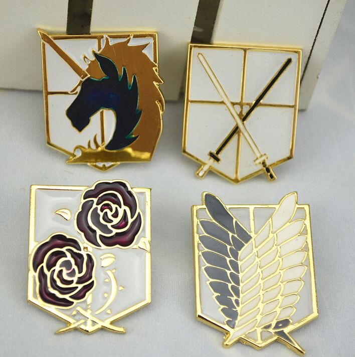 Attack On Titan Badge Survey Corps Wings Of Liberty Cos Metal