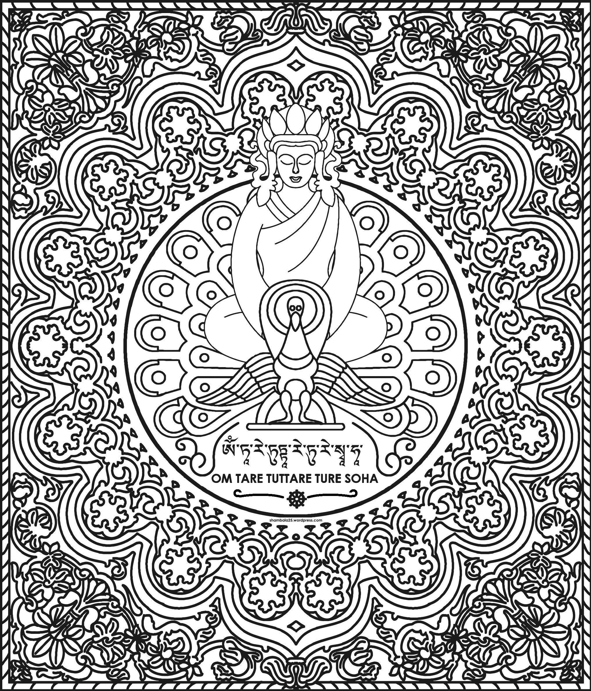 Buddha mandala | Coloring therapy | Pinterest | Mandalas, Buddha and ...