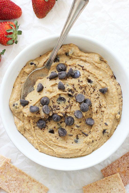 Peanut Butter Cookie Dough Dessert Hummus - Cook Nourish Bliss