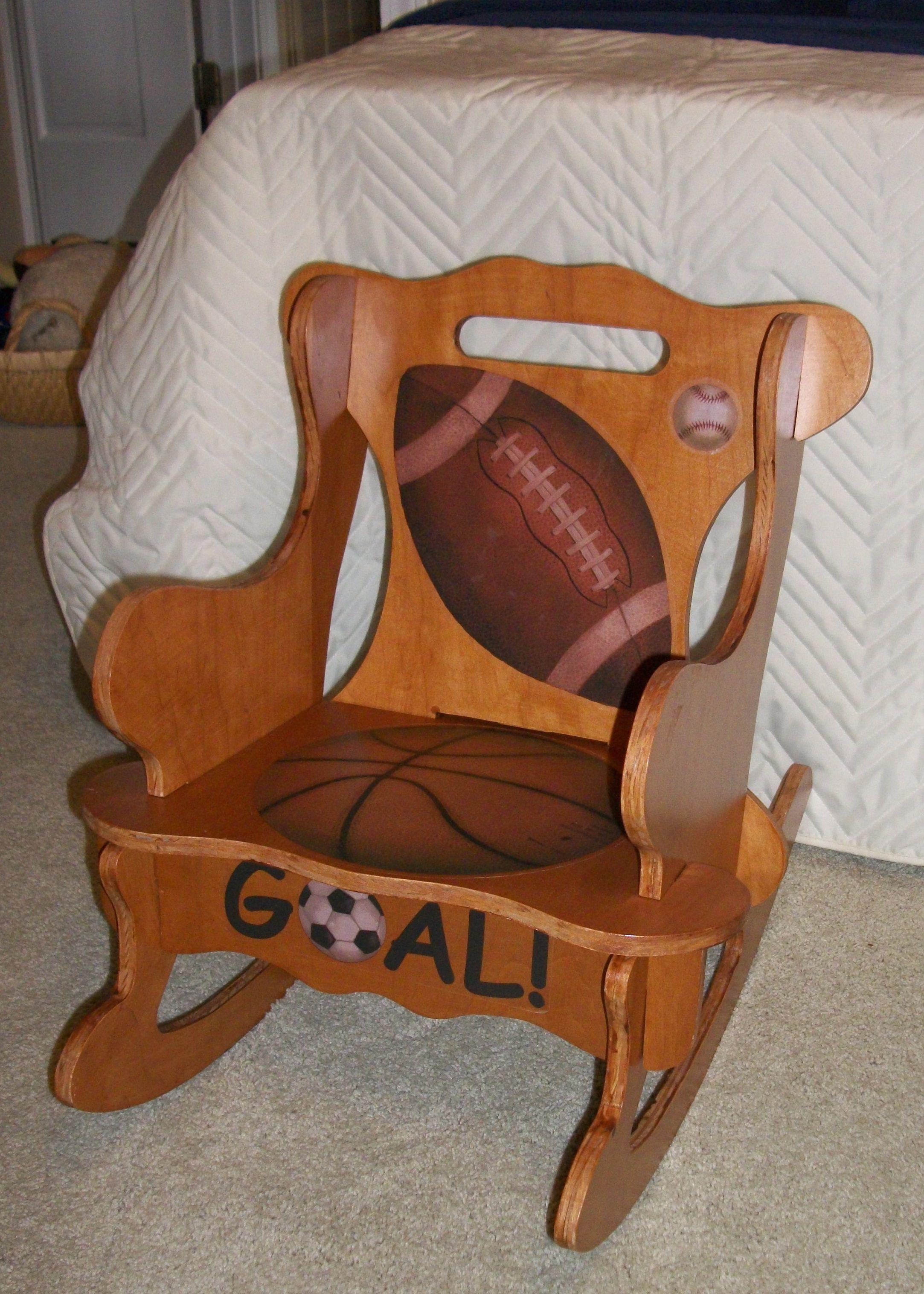 Child's Rocking Chair. Pattern found in Thrift Store ...