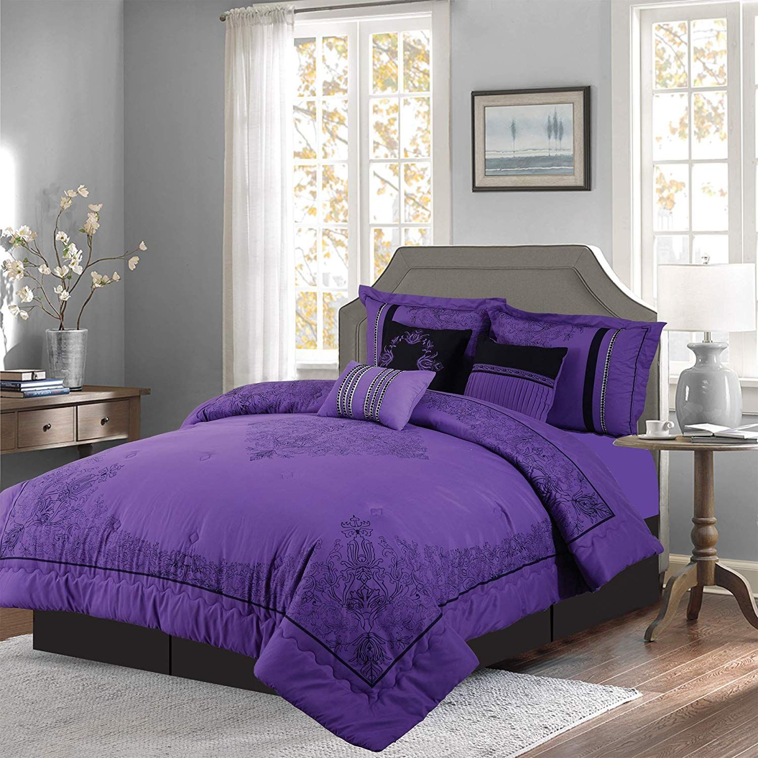 Empire Home 7 Piece Nadia Oversized Elegant Comforter Set
