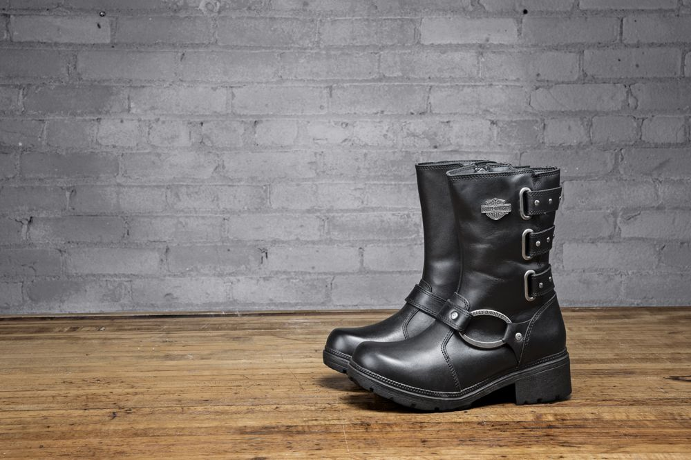 A tall women s leather boot with bad ass moto-style and fashionable  features. Zip up the Bellacruz and hit the town. Part of the Harley-Davidson  Footwear ... 5e52025eaf