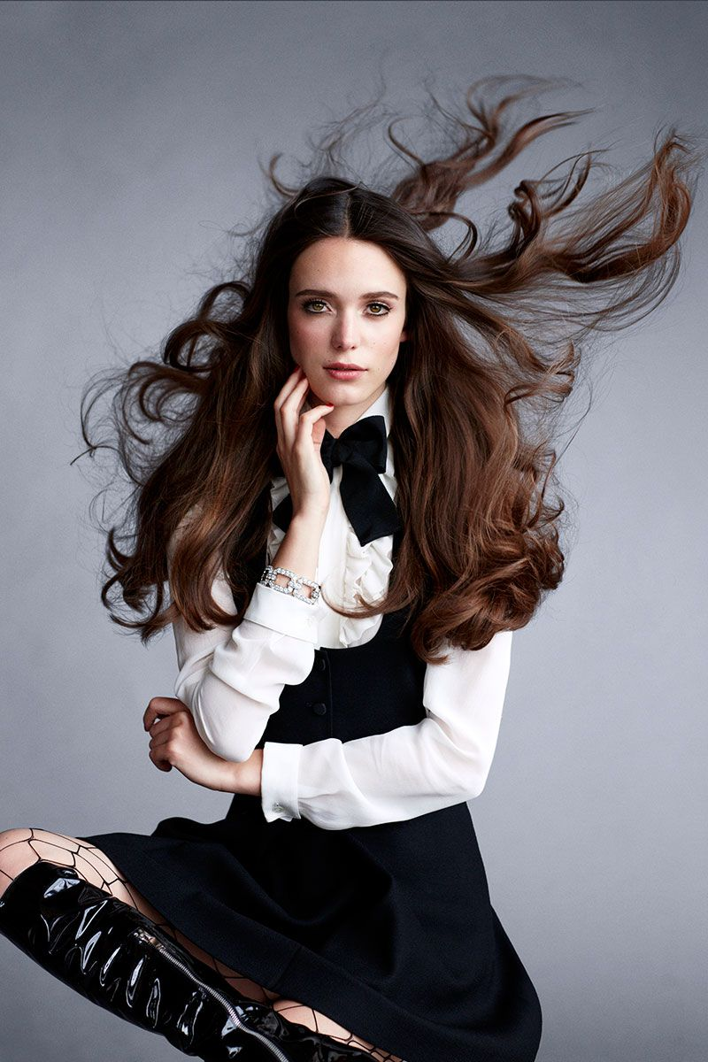 Stacy Martin as one of Carine Roitfeld's 19 icons for BAZAAR's September issue. See the full shoot here.