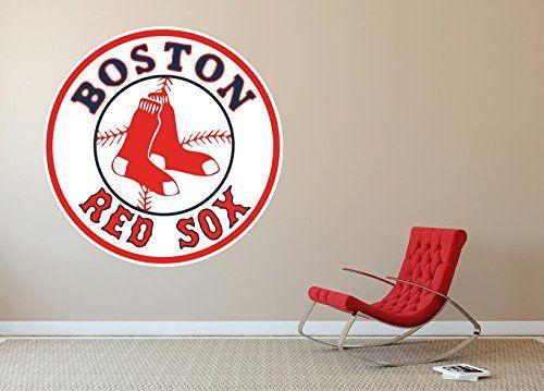 Boston Red Sox Mlb Logo Wall Decal Home Decor Room Car Sticker