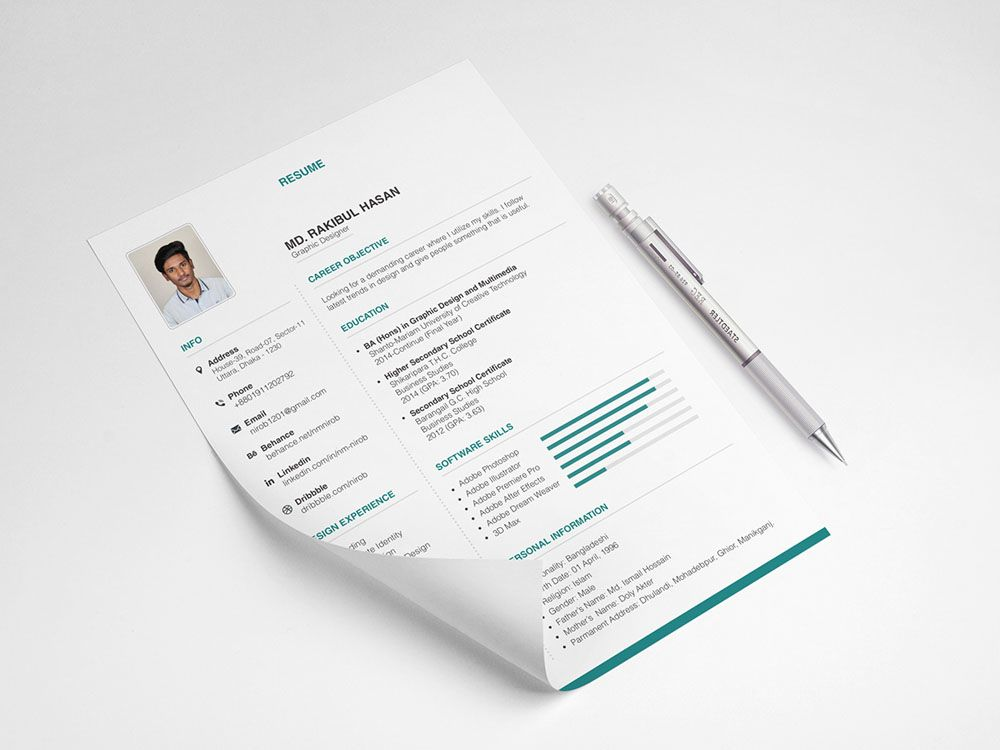 Free Clean Neat Resume Template With Elegant Design Resume Template Free Resume Template Templates