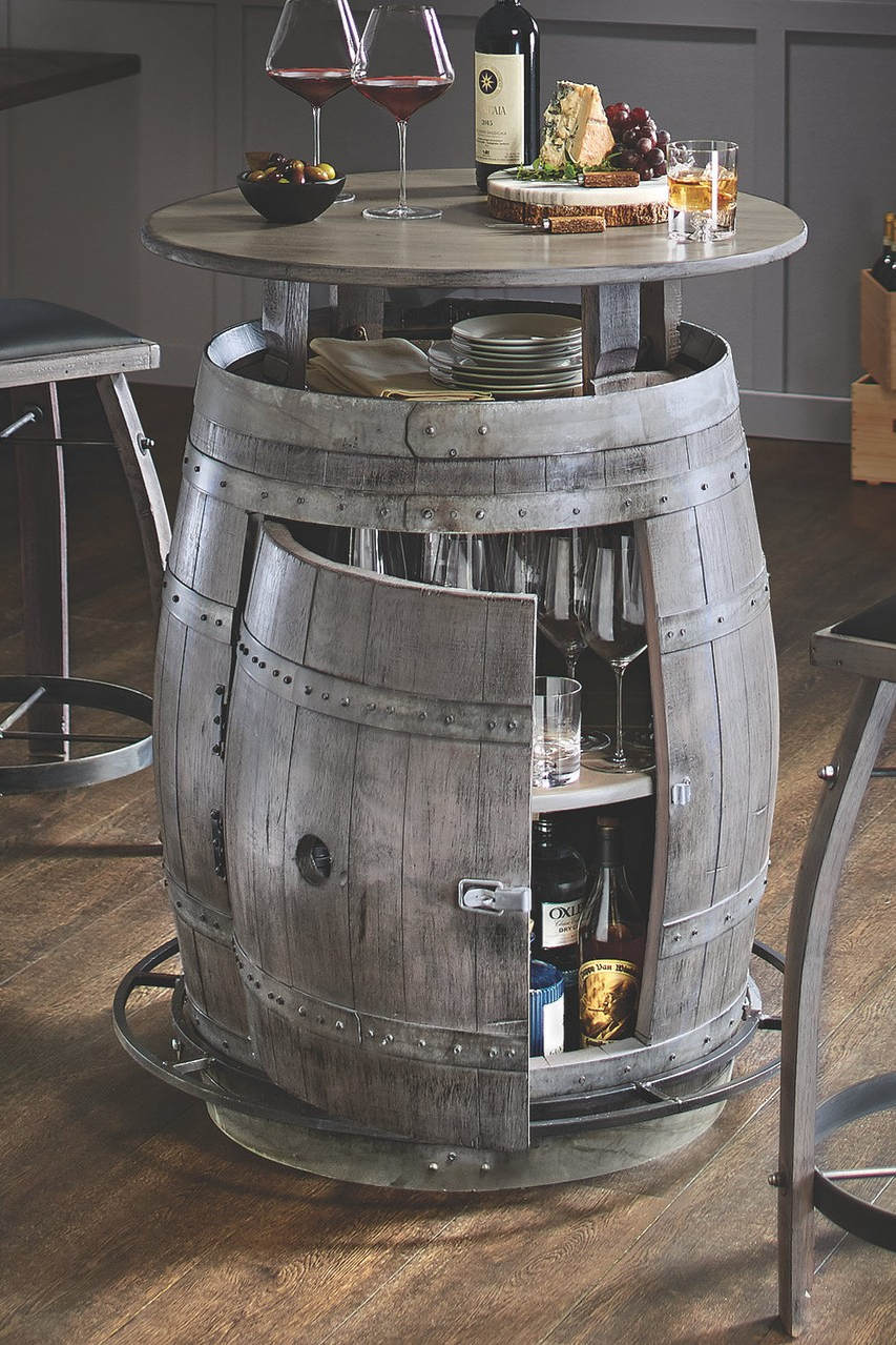 Furniture Barrel Decor Style Interior Wineenthusiast Wecatalog Barrel Furniture Wine Barrel Decor Barrel Decor