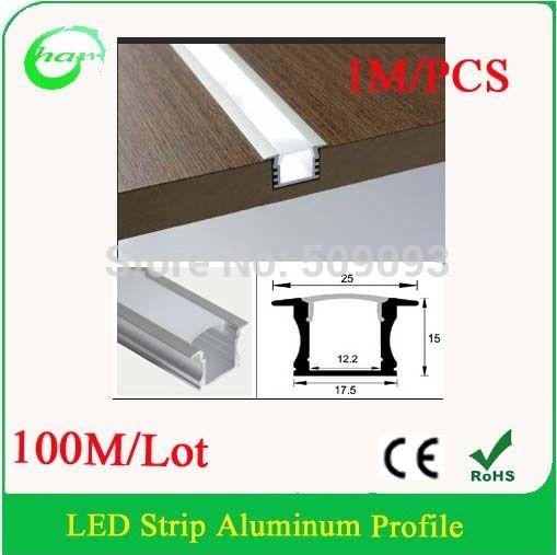 Aliexpress Com Buy Recessed Led Furniture Light Bar Recessed Led Aluminum Profile For Light Bar 100m Lot Length Can Be Led Aluminum Profile Led Bar Lighting