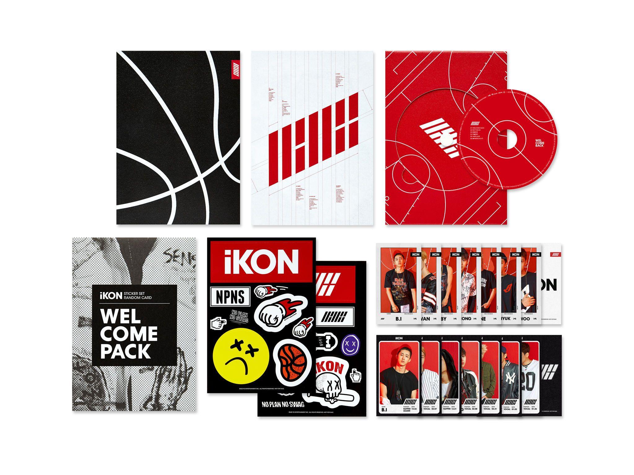 IKON - WELCOME BACK | Music Album Packaging | ♡ PACKAGING