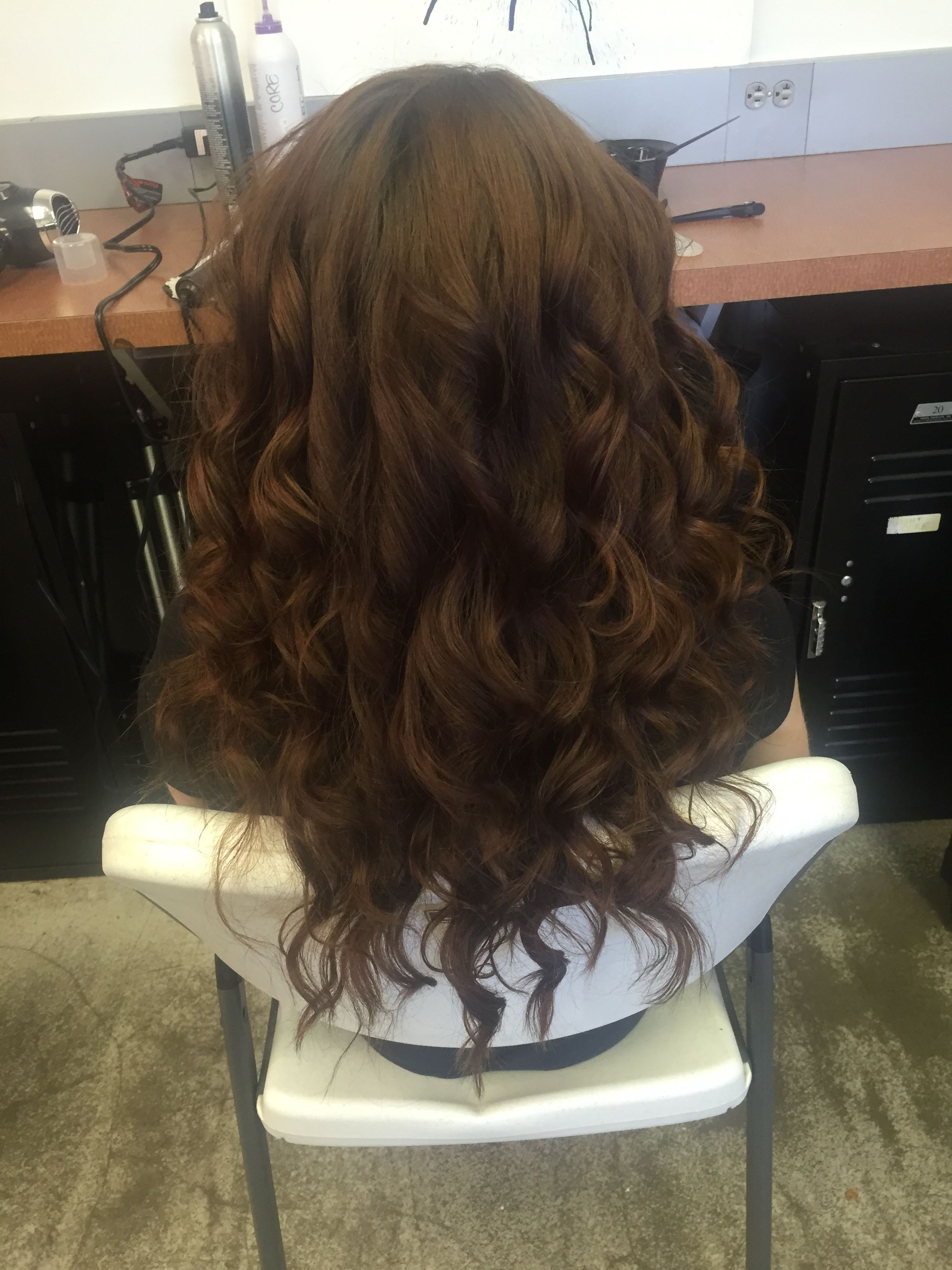 Flat iron curls with images flat iron curls long hair