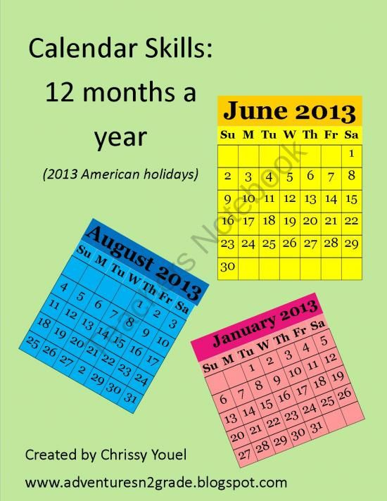 Calendar:  12 Months of Practice product from Everyday-Adventures on TeachersNotebook.com
