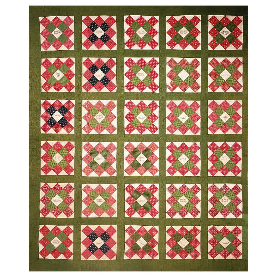 Collections | Cornell University | red and green applique quilts ...