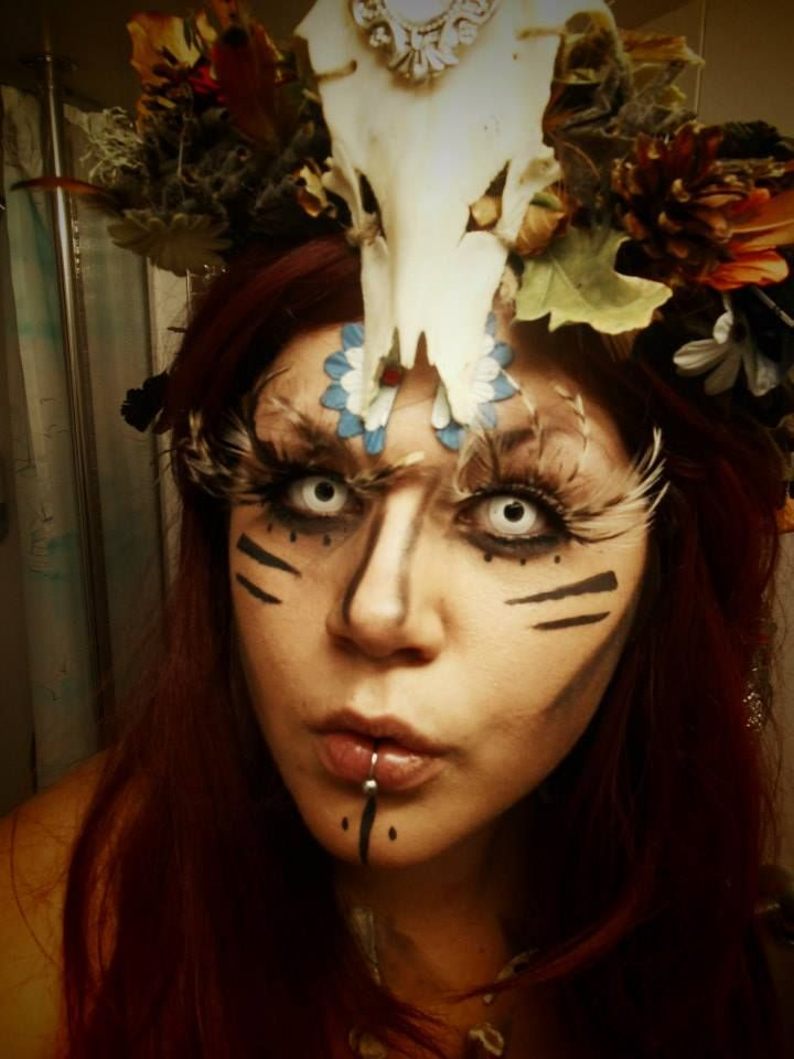 Halloween outfit, Forest witch, makeup and designer: Martina Håkansson