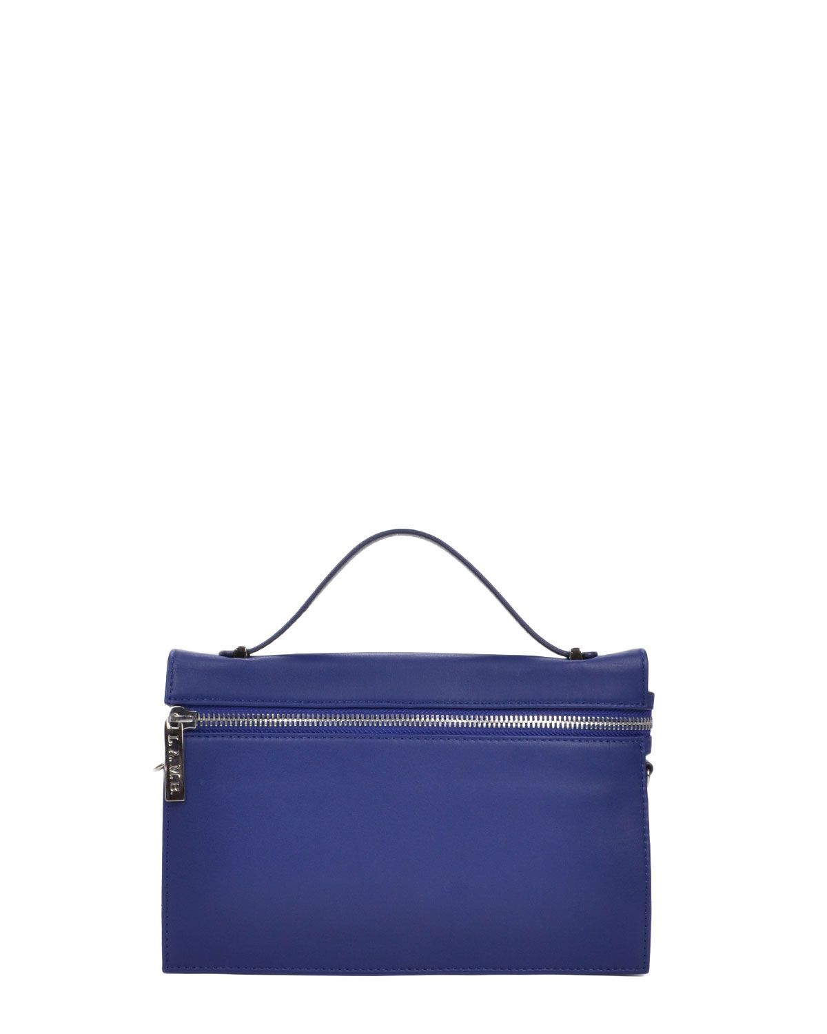 L.A.M.B. Dolley Leather Zip Handbag
