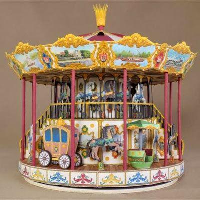 German Christmas Carrousel Paper Model | Paper Models