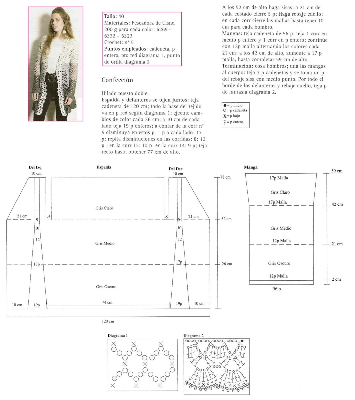 Guardapolvo entre cadenetas 3 colores - Patrones Crochet | 35 ...