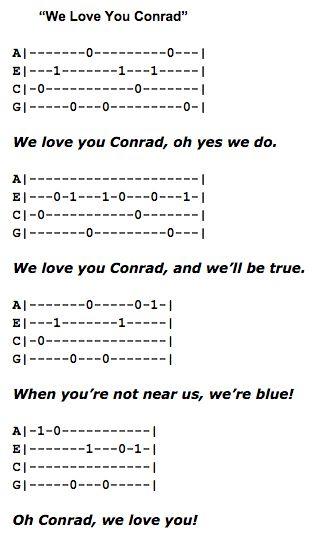 We Love You Conrad Bye Bye Birdie Ukulele Fingerpicking Pattern