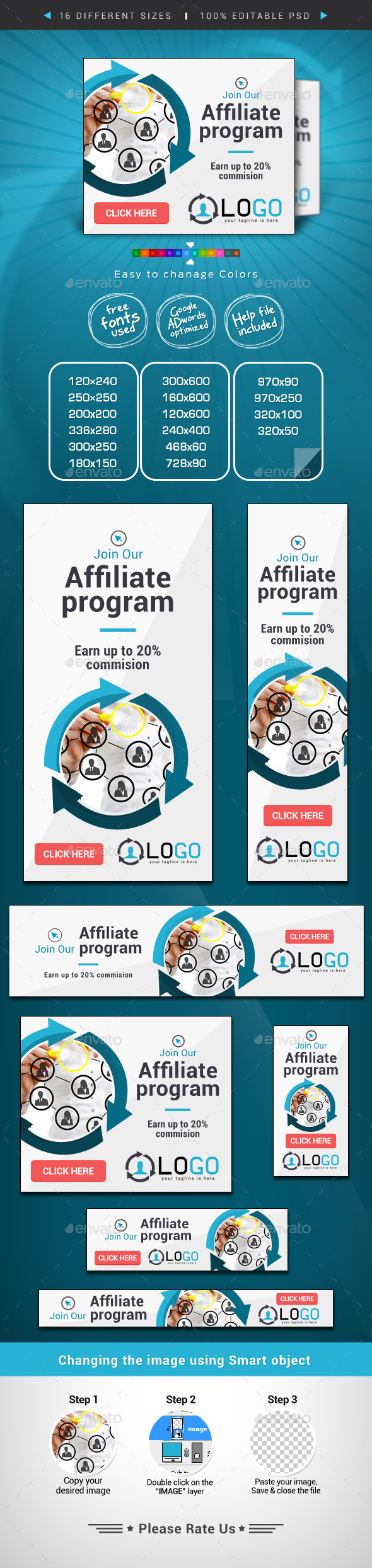 Affiliate Web Banner Design Template PSD | Buy and Download: http://graphicriver.net/item/affiliate-web-banner-design/8980488?WT.ac=category_thumb&WT.z_author=doto&ref=ksioks