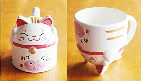 Maneki Neko Mug ~ Taza gato de la suerte
