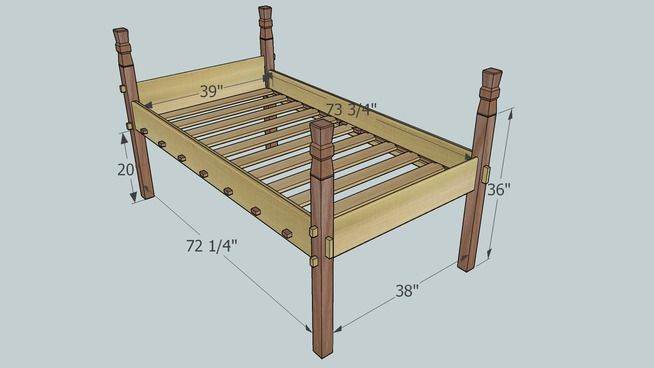 Plans To Diy A Nice Viking Style Bed Frame That Will Work Great