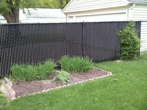Casa Verde 5 Ft Black Fence Slat Vs003123bk060 The Home Depot Backyard Fences Backyard Landscaping Fence Slats
