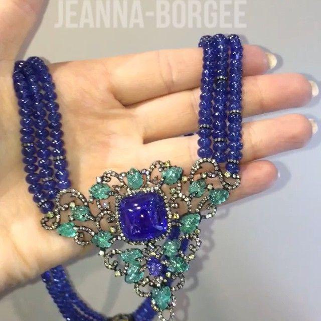 JEANNA-BORGEE Jewellery house. Necklace. Sapphire, tanzanite. Diamond. Emerald. Vintage collection. #Jewellery#boutique #borgee #moscow #dubai #designer #london #milan #shop #instalife #instamood #instagallery